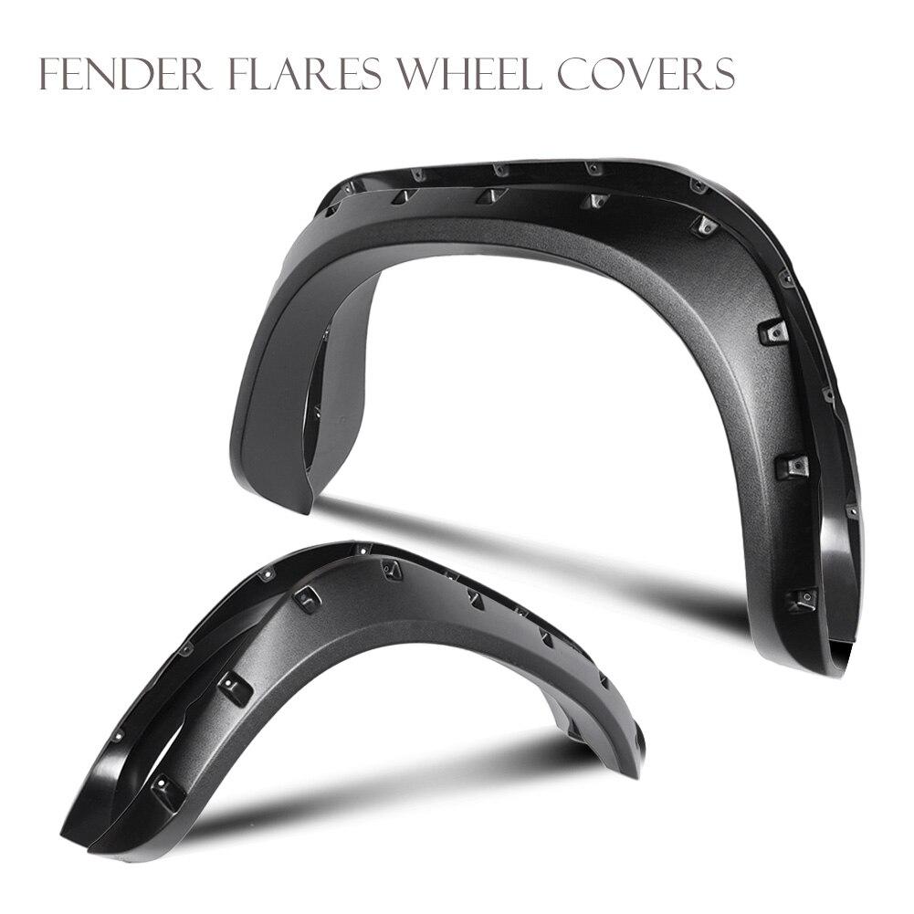 цена Wheel Eyebrow Fender Flares Proof Cover Guard Mudguards Protector Trim Set For Dodge Ram 1500 2002-2008 & Ram 2500 / 3500 03-09