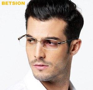 Image 2 - Erkek % 100% Saf Titanyum okuma gözlüğü Yarım Çerçevesiz Okuyucu + 50 + 75 + 100 + 125 + 150 + 175 + 200 + 225 + 250 + 275 + 300 + 325 + 350 + 375