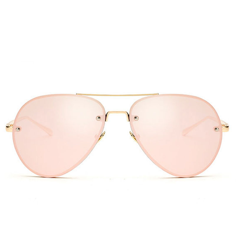 CandisGY Aviation Rose Gold Classic Aviation Women Sunglasses Mirror Summer Style Fashion Glasses Vintage Sexy Lady