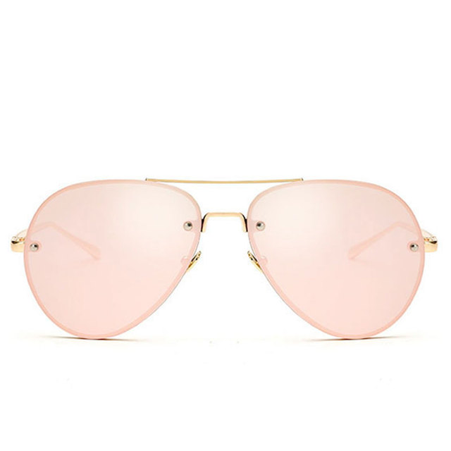 CandisGY Aviation Rose Gold Classic Aviation Women Sunglasses Mirror Summer Style Fashion Glasses Vintage Sexy Lady Sun Glasses