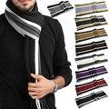Мужская мода Классический Кашемировый Шарф Зимний Теплый Мягкий Fringe Полосатый Кисточкой Обруч Шали полосатый шарф мужчин шарфы