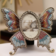 Modern brief metal butterfly photo frame decoration quality