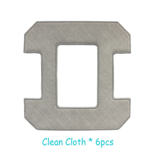 (For Cleaner-X6) Mop for robot window cleaner glass cleaner,6pcs grey mop and 6pcs orange mop,total 12pcs mops/pack