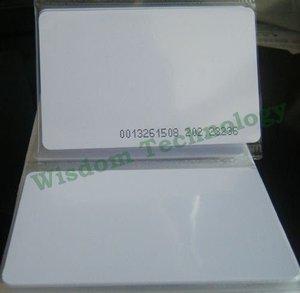 Image 1 - 무료 배송 100 개/몫 rfid 125 khz 스마트 카드 em4100/4102 pvc 카드 두께: 0.8mm