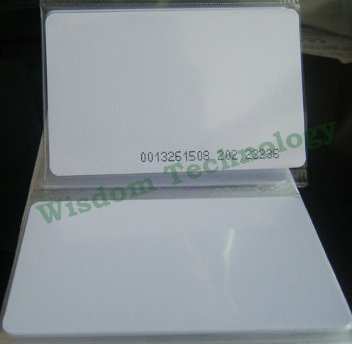Free Shipping 100PCS/Lot RFID 125Khz Smart Card EM4100/4102 PVC Card Thickness:0.8mm