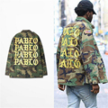 Kanye West Men Jacket I FEEL LIKE PABLO Yeezy Season Hip Hop Men Camouflage Jacket Pablo Kanye Camo Outwear Men Streetwear