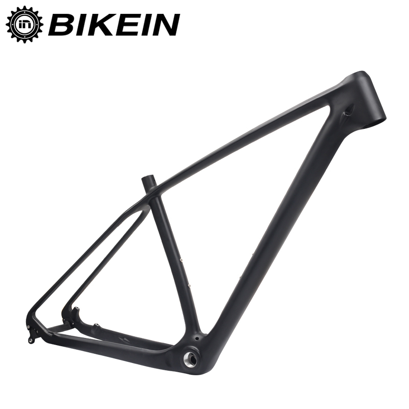 BIKEIN T800 Full UD Carbon MTB Bicycle Frame 15/17 inch Matte 26/27.5/29er BSA 68mm Cycling Mountain Bike Parts Ultralight 1240g 2017 new frame carbon 29er bicycle bicicleta mountain bike frame 15 17 19 glossy matte ud quick release or axle alternatively