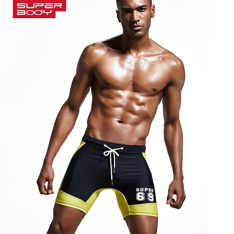 muški kupaći kostimi sport dugi Plivajući trup kratka plaža s džepom Muški bokser spa plaža za kupanje papuče najlon strejt kupaći koferi