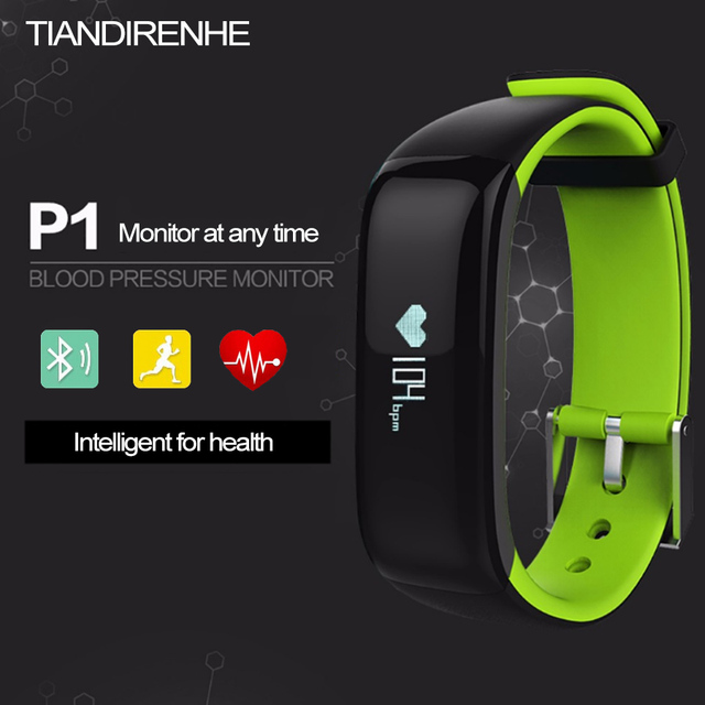 Newest P1 Pro Bluetooth Smart Watches Bracelet Blood Pressure Heart Rate Monitor IP67 Waterproof Smartband for Android IOS Phone