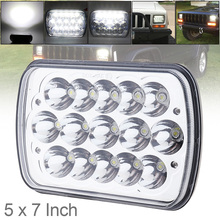 цена на 5X7 7X6 Inch Car Headlights Rectangular LED Headlights for Jeep Wrangler YJ Cherokee XJ Trucks 4X4 Offroad Headlamp