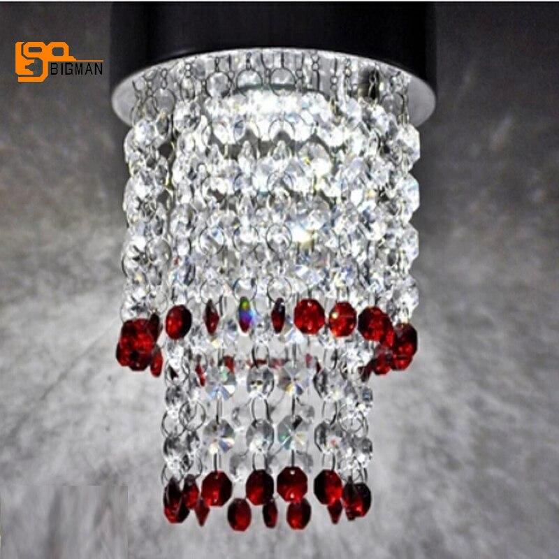 modern red chandelier crystal lamp ceiling fixtures room light deckenleuchten for home lighting red crystal