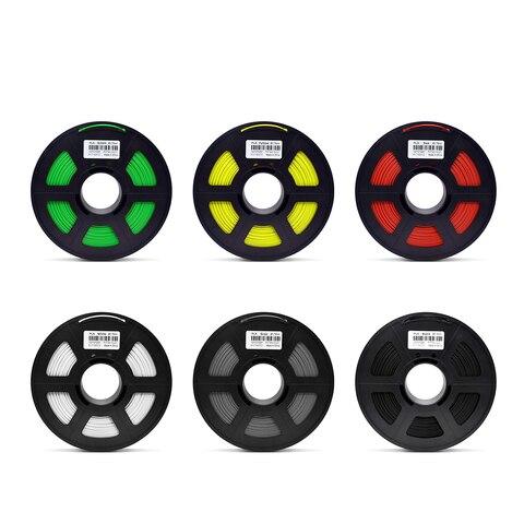 0 5 kg 3d material de impressao filamento pla 1 75mm branco preto vermelho amarelo