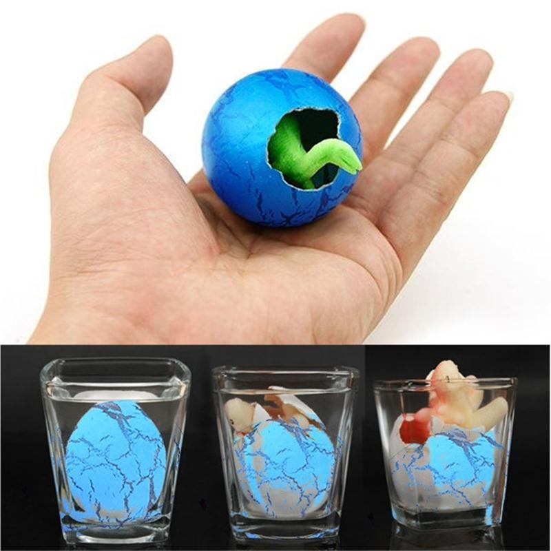 2017 NEW Toys For Boys 1 Pcs Colorful Dinosaur Add Cracks Grow Eggs Magic Water Growing Egg Hatching Cute Children Kids Toy