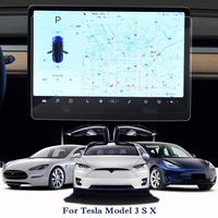 For Tesla Model 3 S X Car Styling GPS Navigation Screen Glass Protective Film Dashboard PET Display Film Accessories