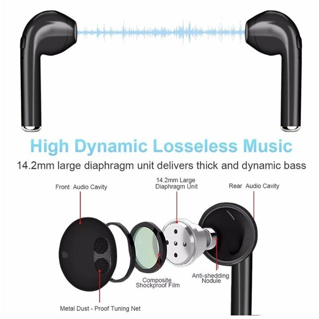 CASEIER I7S Wireless Bluetooth Earphone HIFI Wireless Earphones With Charging Box Case Auriculares bluetooth inalambrico Headset