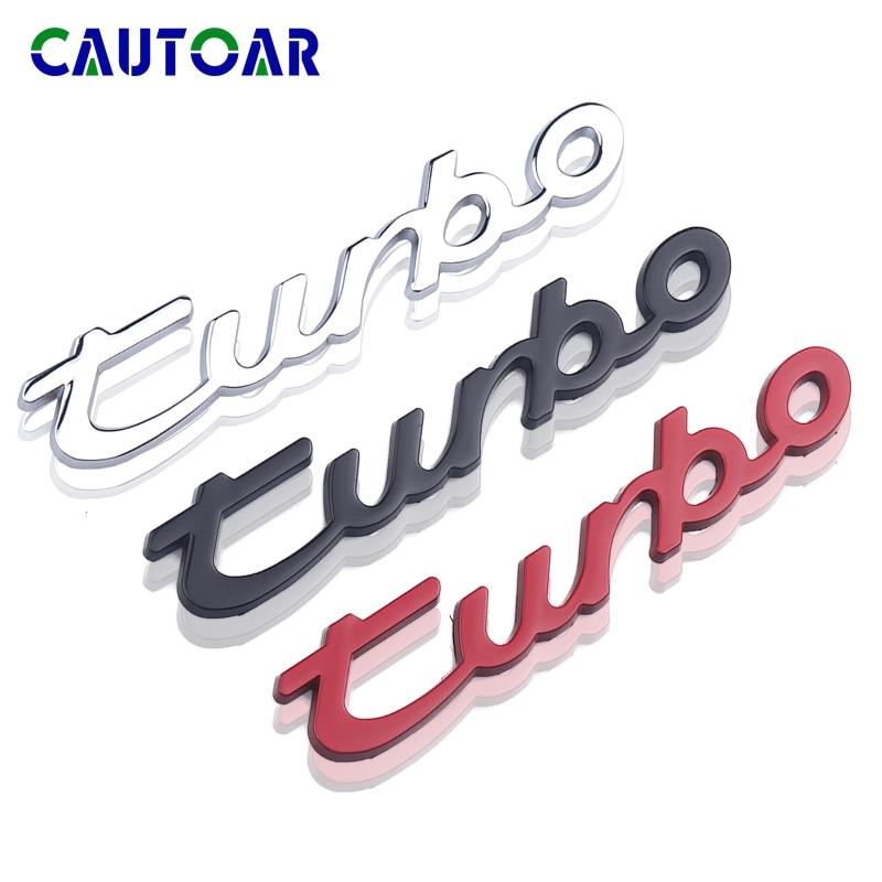 Car Styling 3D Metal Turbo Sticker For Porsche Cayenne Macan Panamera 997 996 718 911 Cayman Emblem Rear Decal Auto Accessories