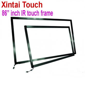 Xintai Touch 86 inch IR Touch Screen Panel without glass / 10 points interactive touch screen frame