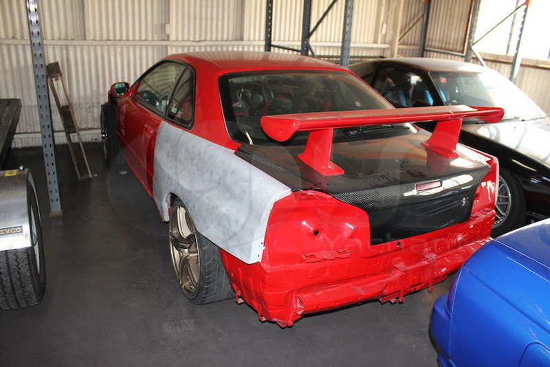 1999-2002 Nissan Skyline R34 GTT GTR OEM Style Trunk with Break Light Cutout CF (41)