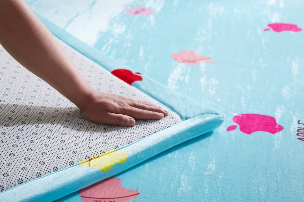 Tapis et tapis de couleur unie pour la maison salon Super doux tapis anti-dérapant 5 couleurs Rectangle forme tapis bébé canapé tapis - 5