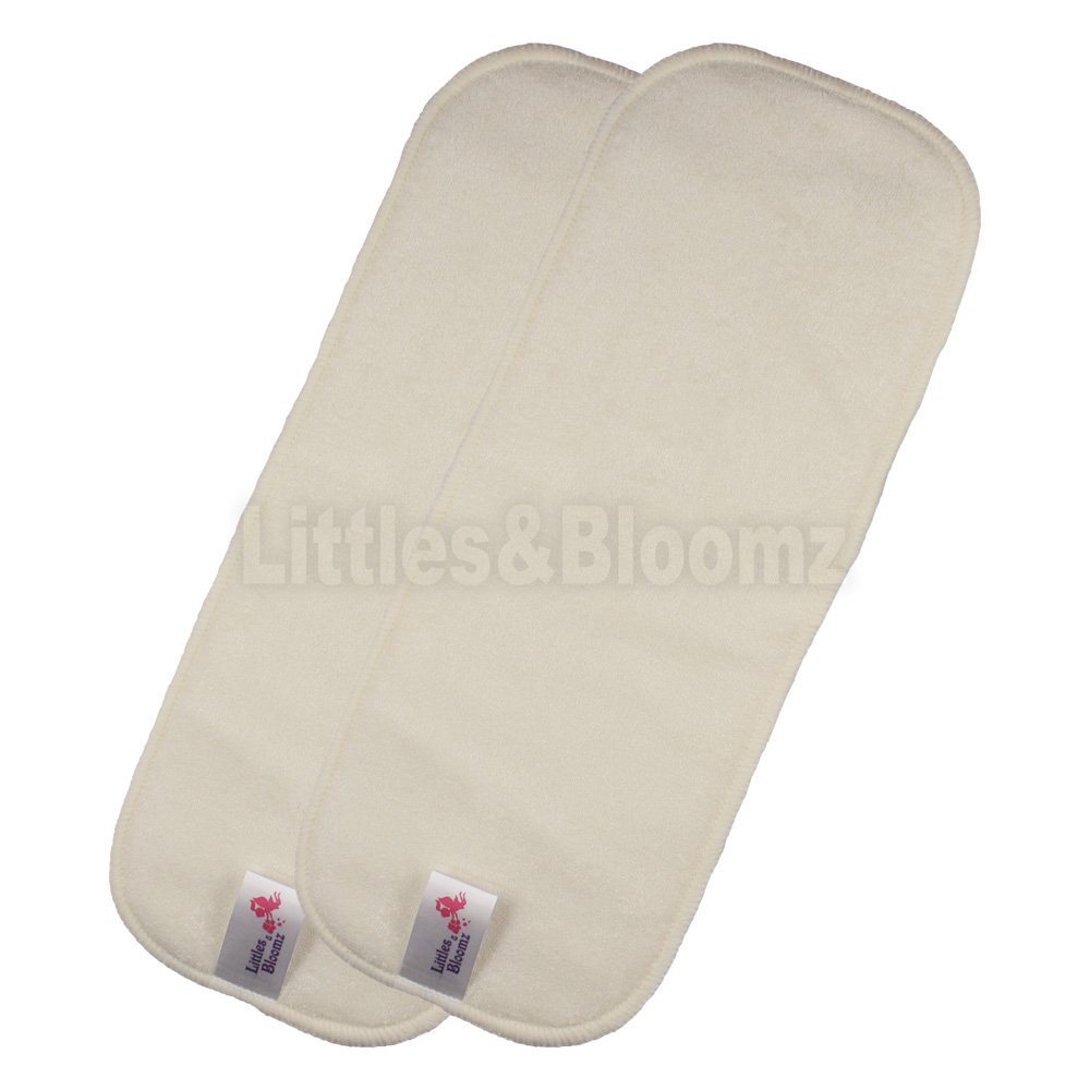 [Littles& Bloomz] 2 шт многоразовый моющийся из микрофибры, бамбуковый уголь, вкладыши для подгузников