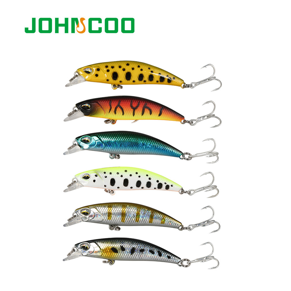 Johncoo JERKBAIT 60SR Fishing Lure 60mm 4.5g Sinking Minnow Wobbler Hard Lure Bass Pike peche isca artificial Bait Tackle