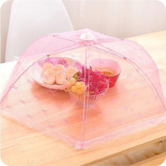 Кухонный кружевной сетчатый чехол для экрана складной зонт для пикника