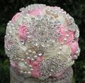 New Arrival Accept Custom Elegant Artificial Brooch Decoration of Bouquet Wedding Bouquets Bridal