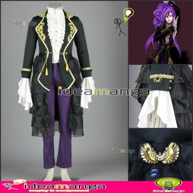 [ideamanga]Manga Amime V+ VOCALOID Gothic style Kamui Gakupo/Gackpo boy's Cosplay Costume male halloween party dress Any Size