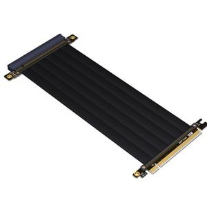 Image 3 - PCI E X16 zu 3,0 X16 Männlich zu Weiblich Riser Erweiterung Kabel Grafikkarte PC Installieren Chasis PCI Express Extender Band 128G/Bps