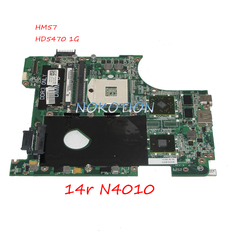 NOKOTION DAUM8AMB8D0 CN-0CG4C1 0CG4C1 CG4C1 Laptop Motherboard For Inspiron 14r N4010 Main Board HM57 HD5470 1G worksNOKOTION DAUM8AMB8D0 CN-0CG4C1 0CG4C1 CG4C1 Laptop Motherboard For Inspiron 14r N4010 Main Board HM57 HD5470 1G works