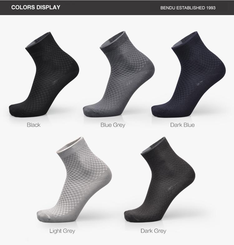 Мужчины бамбуковое волокно носки Марка свободного покроя анти-бактериальных дезодорант Breatheable человек длинный носок 5пары / лот