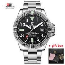 メンズ腕時計防水自動機械式時計の男性腕時計時計 Masculino ギフトボックスリロイ Tevise