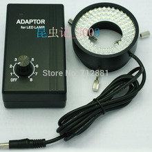 Adjustable 96 LED Ring Light illuminator Lamp for Stereo Microscope Digital Camera With AC Power Adapter