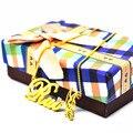 Banhado a ouro Colar da placa de Identificação com Borboleta de Cristal Personalizado Nome Pendente Box Cadeia Bijuterias Presente BFF