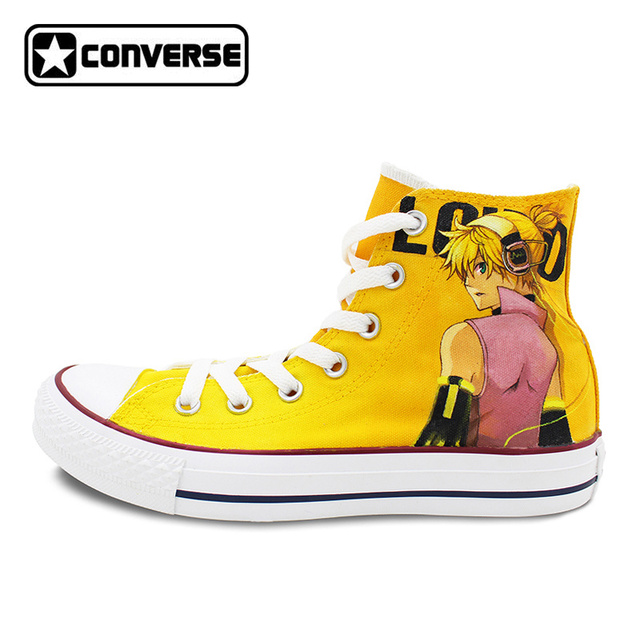converse jaune haute