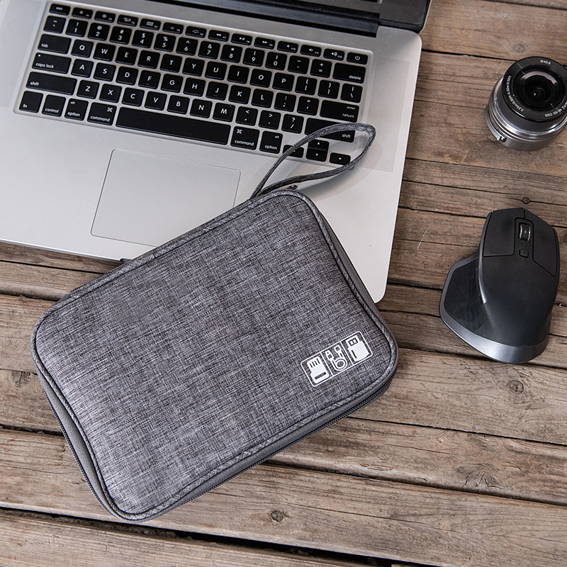 Portable Waterproof Cable Pouch USB Electronics Charger Digital Bag Travel Wire Gadget Kit Cosmetic Case Organizer Tote Supplies