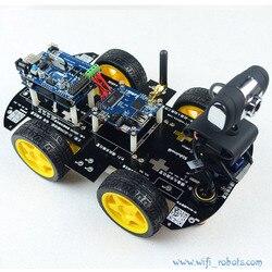 робот на колесах,с видео камерой Wi-fi,для arduino iOS +пульт дистанционного управления