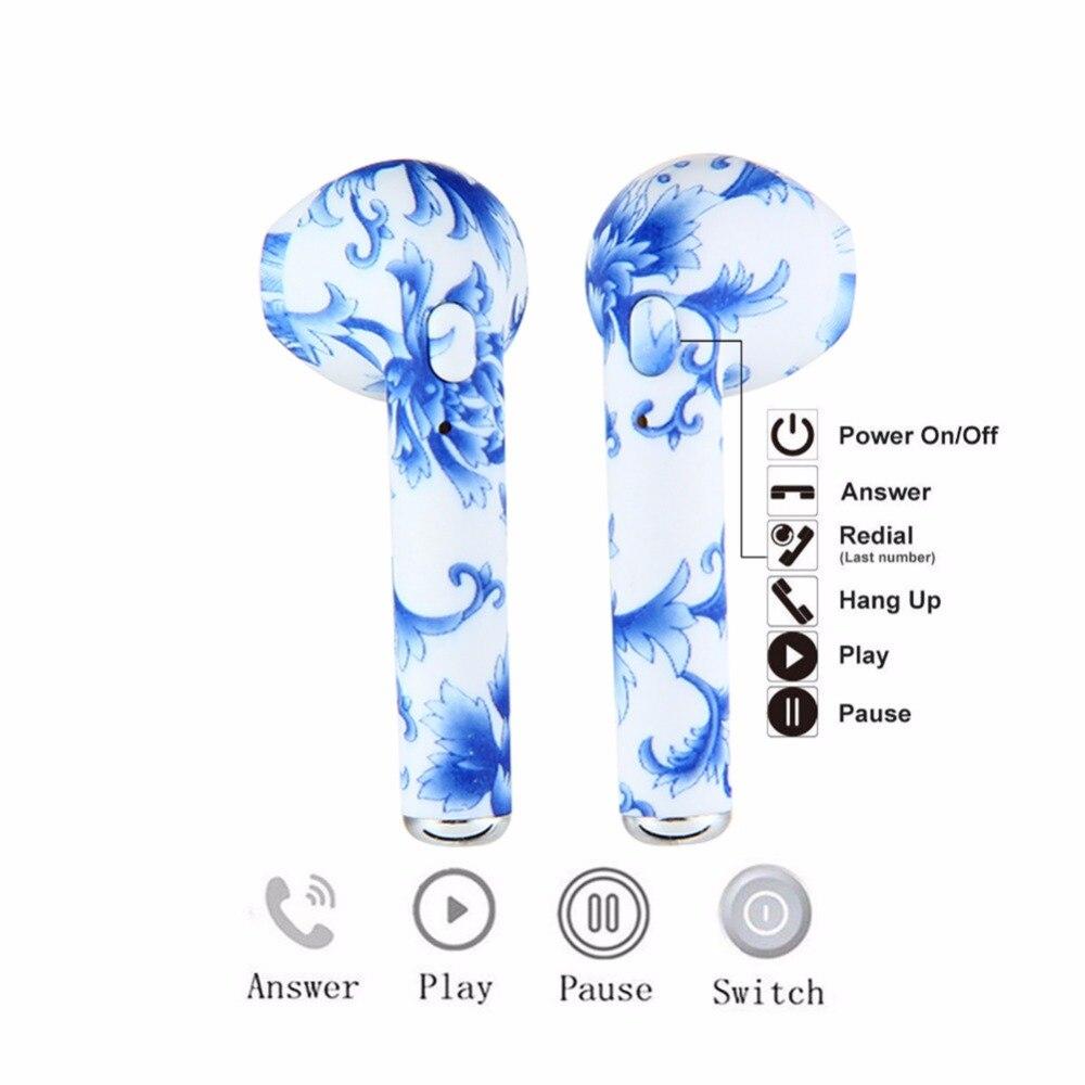I7s tws Camo Fone de Ouvido Estéreo Fones De Ouvido Sem Fio Mini fone de Ouvido Bluetooth fone de ouvido Sem Fio Com Caixa de Carga para o iphone xiaomi