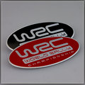 Black/Red WRC World Rally Championship Emblem Badge Car-styling Sticker Metal Fit For Subaru STI WRX Impreza ect