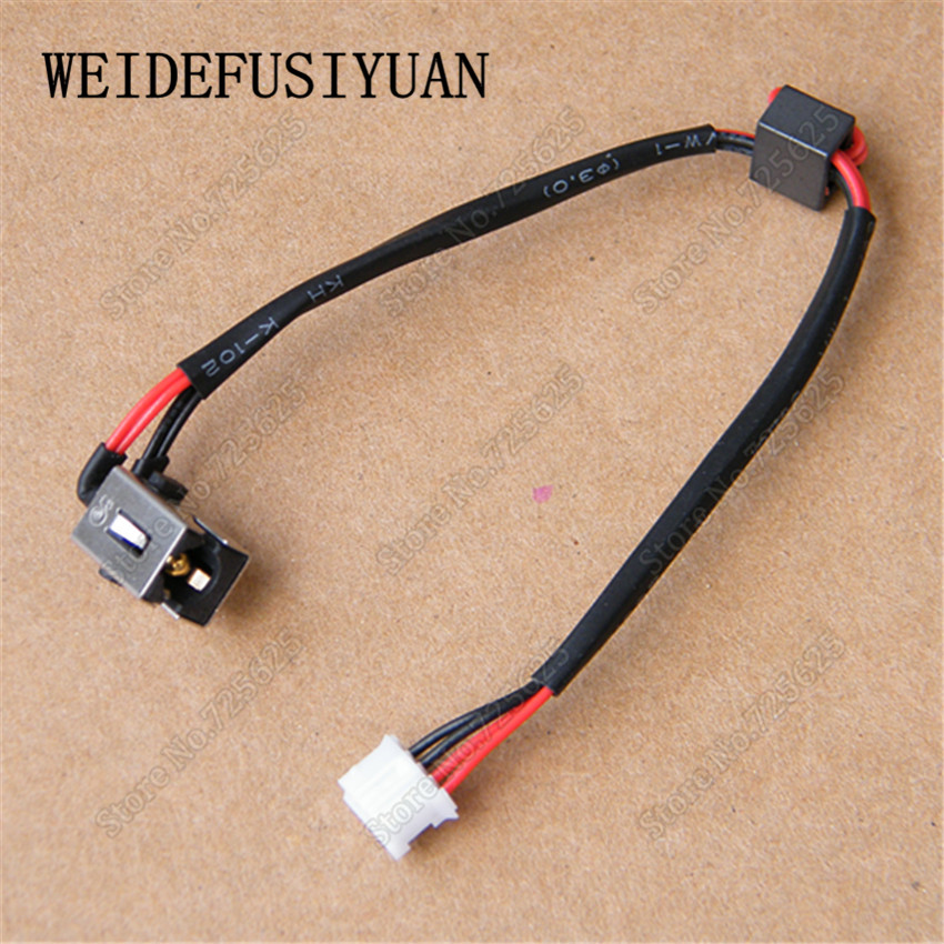 DC Power Jack Connector with Cable Socket for Lenovo IBM Z400 Z500 P400 P500 DC in Cable 1pcs