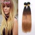 Peruvian Ombre Straight Hair 3 Bundles Deals Peruvian Virgin Hair Straight Ombre Weave Human Hair Extensions Ombre Peruvian Hair