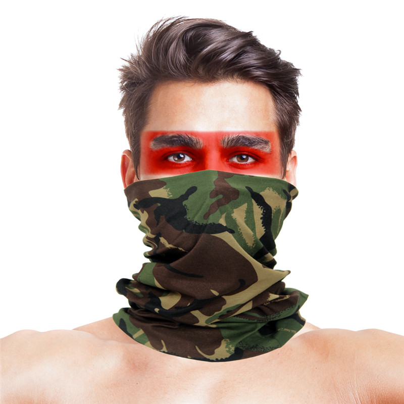 New Camouflage Cycling Face Mask Polyester Microfiber Bandana Riding Head Neck Warm Windproof Scarf Headband Bicycle Face Shield
