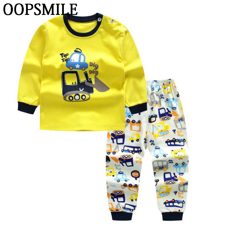 Autumn Baby Clothing Set Baby Boys Girls Clothes Long Sleeve T-shirt + Pants 2pcs Suit Cotton Baby boy Girl Newborn Clothing Set