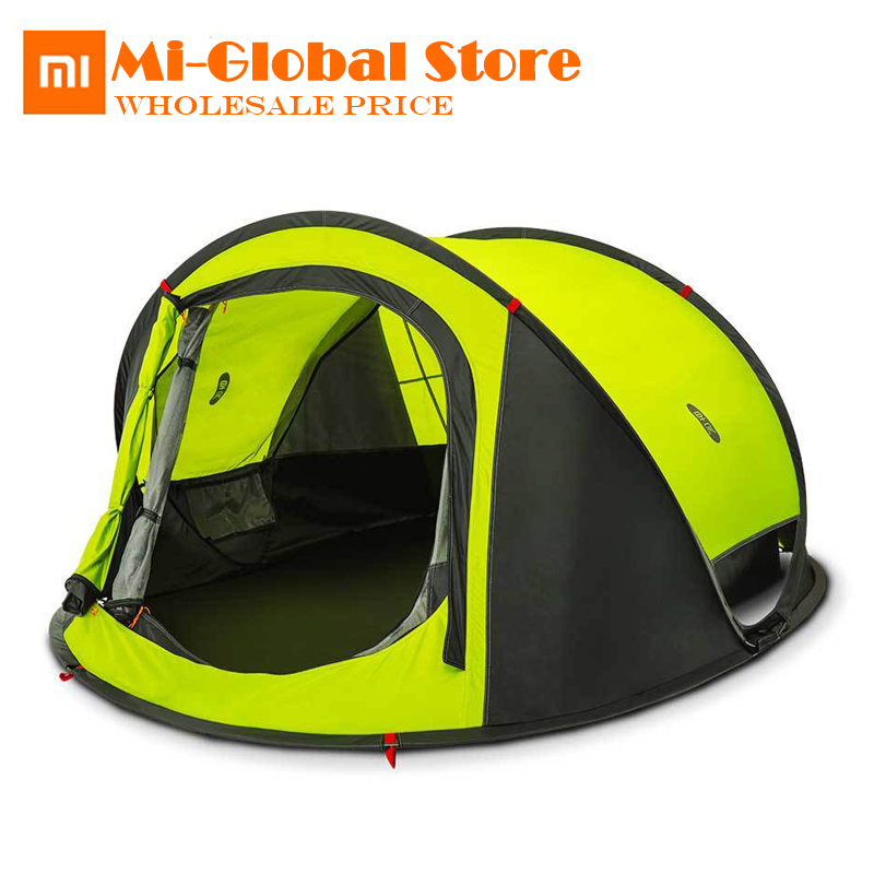 original XiaoMi ZaoFeng outdoor automatic tents throw tent Rainproof and moistureproof camping hiking tent for 2 to 4 people outdoor camping hiking automatic camping tent 4person double layer family tent sun shelter gazebo beach tent awning tourist tent