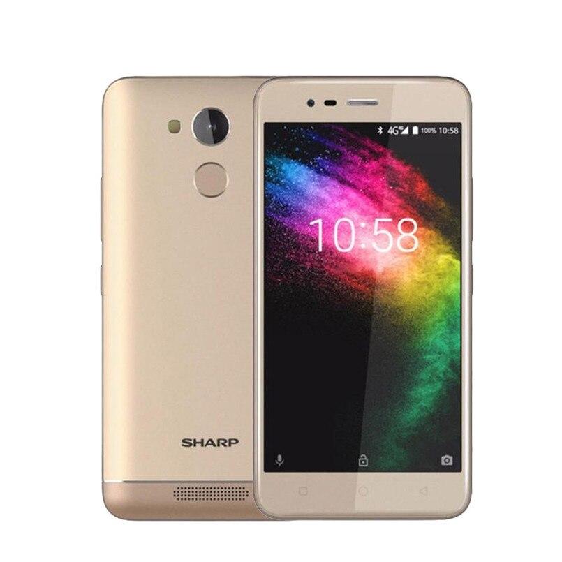Sharp R1 MT6737 Quad Core Mobile Phone 5.2 Inch 720x1280px 16:9 ratio Smartphone 4000mAh 3GB RAM 32GB ROM Android Cellphone
