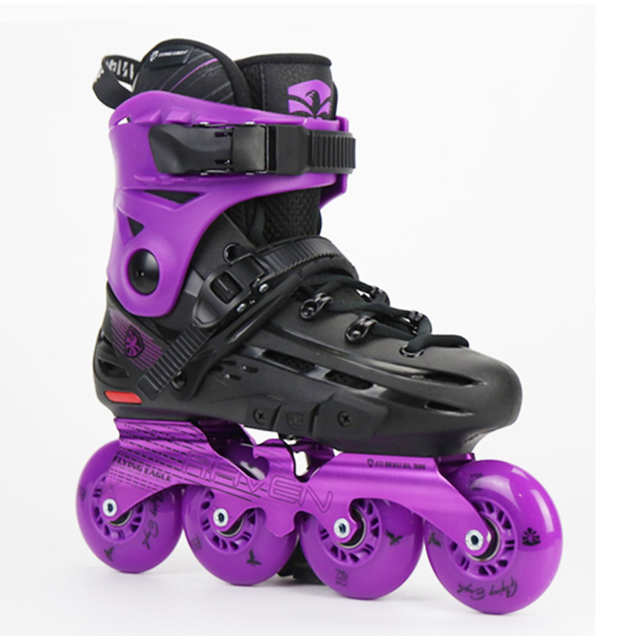 Image 2 - 100% Original Flying Eagle F4 RAVEN Inline Skates Falcon Professional Adult Roller Skating Shoe Slalom Sliding Free SkatingSkate Shoes   -