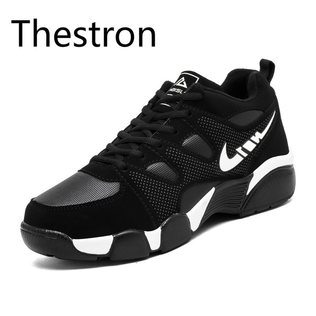 Thestron Men Running Shoes Winter Shoes Men Plus Cashmere Warm Cold Snow Boots Black Running Shoes Sneakers High Quality Sneaker