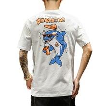 M-5XL  2019 casual summer round neck men t shirt slim fit tee shirt homme print short sleeve shark animal print mens 3d shirts men abstract animal print tee