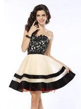 B025 A-line Günstige Vestido Homecoming Kleider 2017 Kleid-schatz-sleeveless Abschlussball Kurz Applique Spitze Organza Cocktailkleid