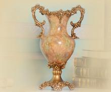 Vintage European resin vase home accessories medium table living room TV cabinet ornaments flower plug